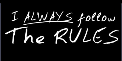 follow the rules Zombieland T Shirt Rules